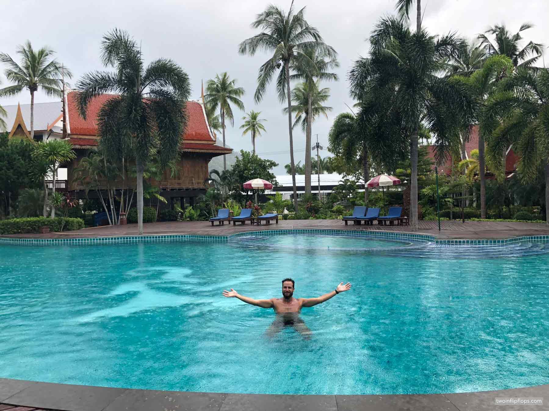 Thailand Koh Lanta Pool Rain
