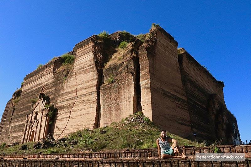 Chinthe Ruins Mingun Myanmar