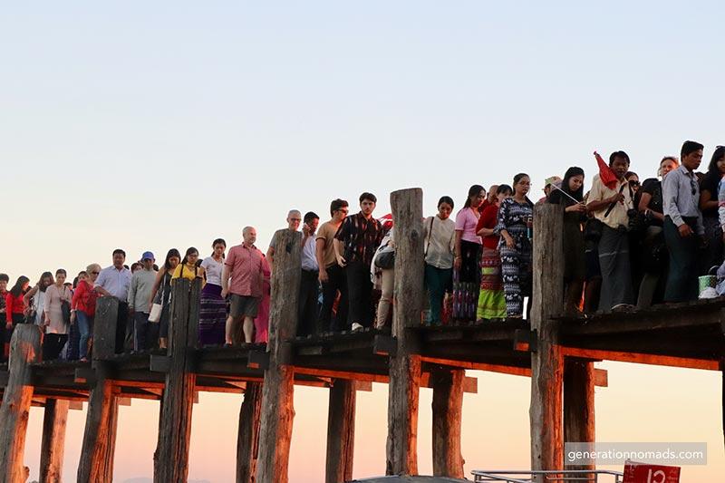Awa U-Bein Bridge Mandalay Myanmar