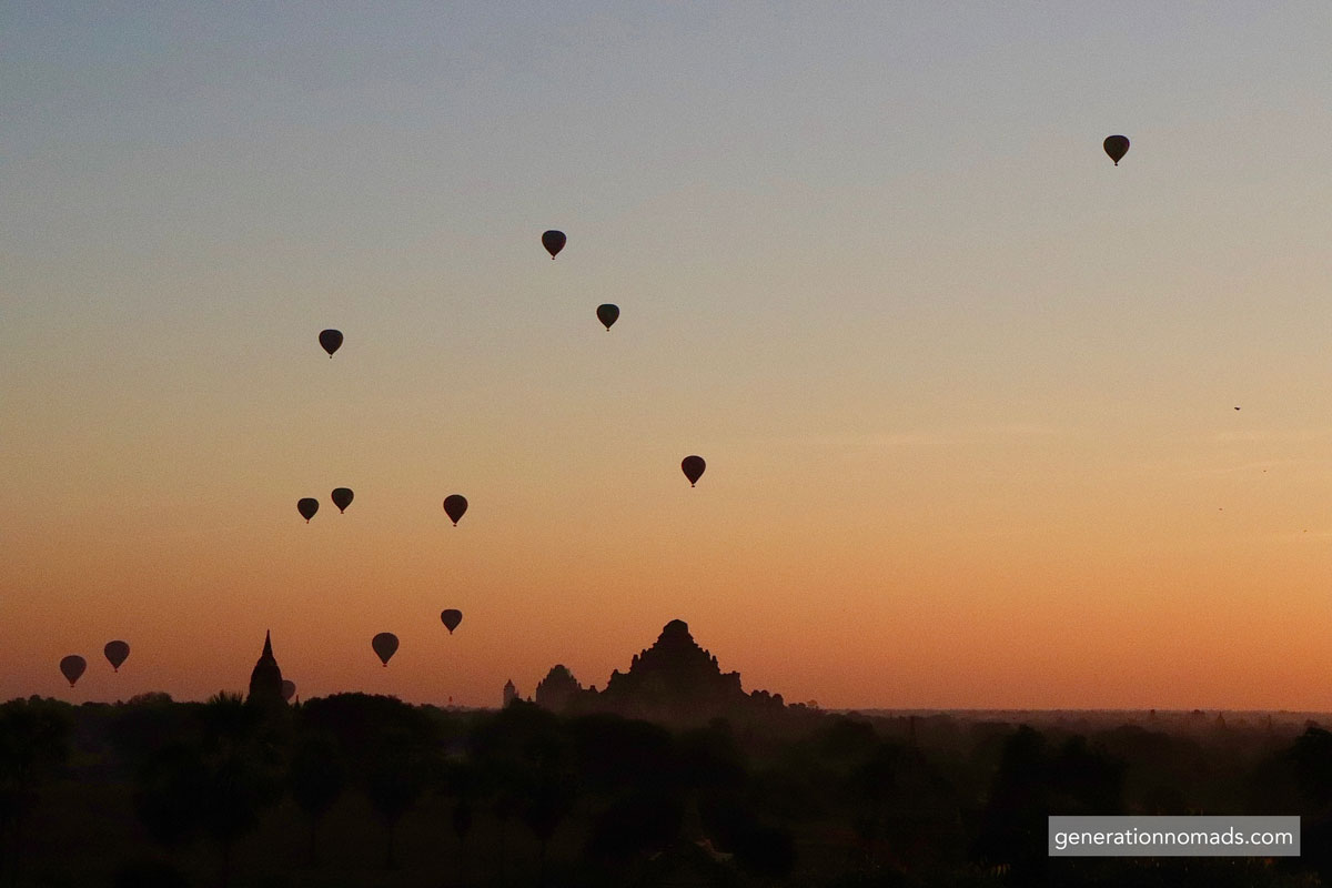 Bagan Sunrise Air Ballons Myanmar
