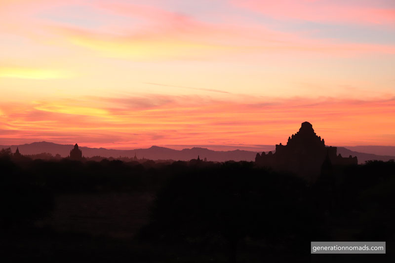 Bagan Sunset Temples Myanmar