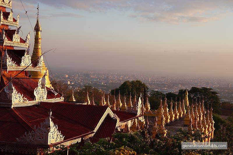 Mandalay Hill View Su Taung Pyee Pagoda Myanma