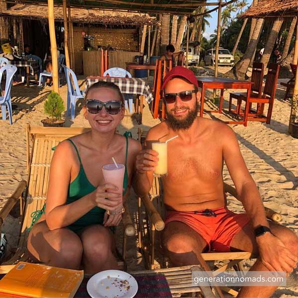 Ngapali Beach Myanmar Cocktails