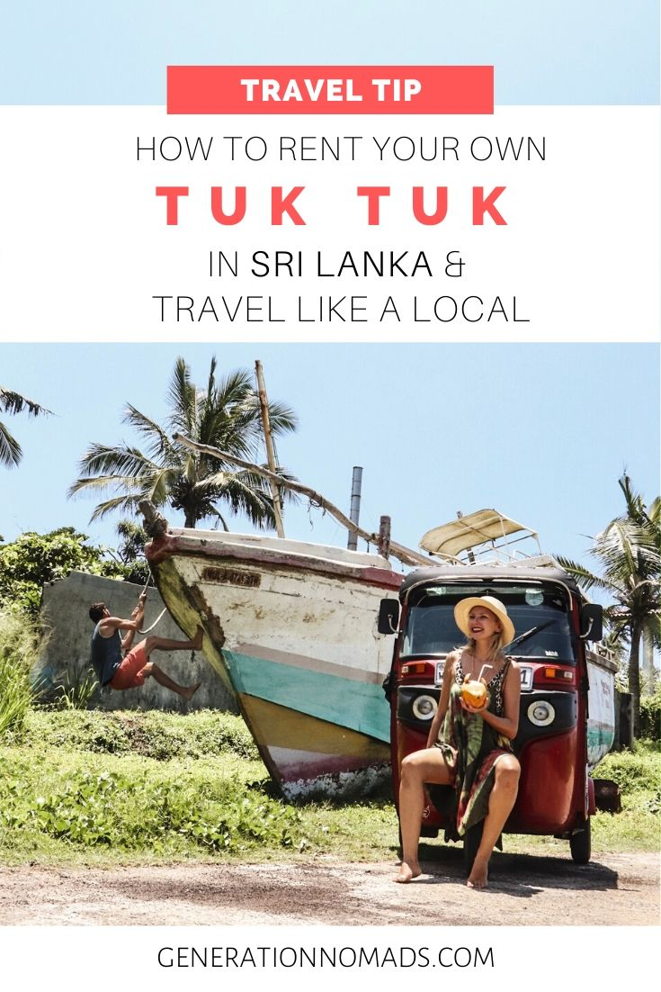 There is no better place to drive your own Tuk Tuk than in Sri Lanka. There is also no better way to travel in Sri Lanka than in your own Tuk Tuk! Sri Lanka is a small island, so exploring it on a road trip is the best way to see the best spots and hidden gems off the beaten path. Everything you need to know about renting a tuk tuk in Sri Lanka. Including DISCOUNT CODE! And day by day itinerary, including Unawatuna, Dalawella Beach, Tangalle, Ella, safari, and more!