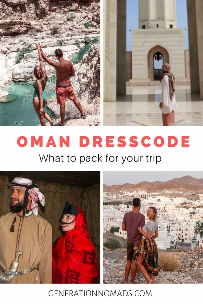 When visiting Oman, it is important be aware of the Oman dress code, and respect the traditions of the country. Here is how to pack for your trip to Oman. Know what to wear when going swimming in Wadis, visit mosques, or taking a road trip trough the mountains in Oman. Travel Oman while being considerate of the local customs and way of dressing, to make your trip pleasant for you as a tourist.