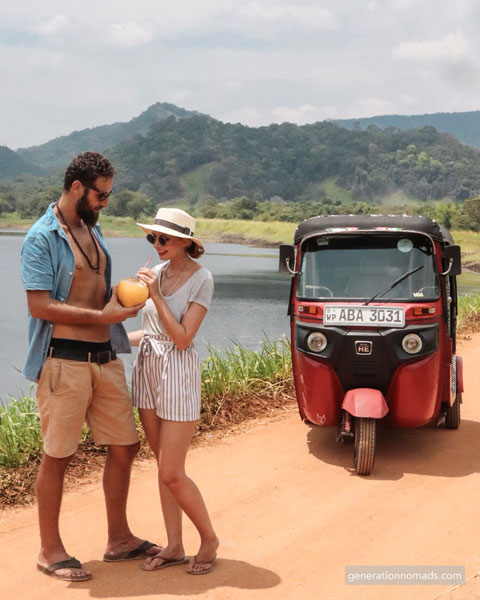 Off the beaten track with our Tuk tuk in Sri Lanka