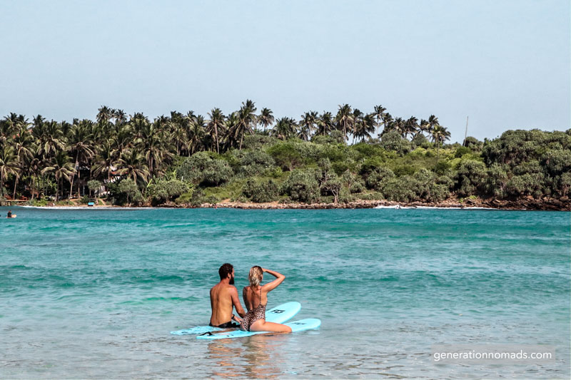 Srufing at Hiriketiya Beach for beginners