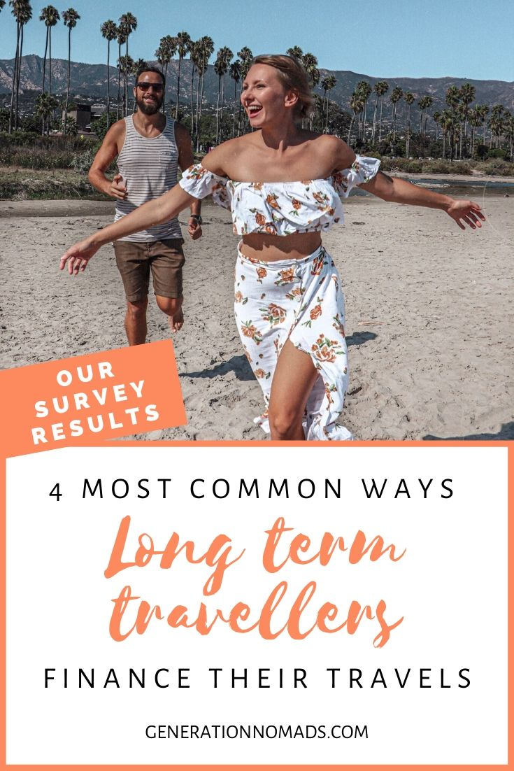 Want to travel more but have no idea how to afford it? Within 2 years, we created enough passive income that we were financially free and didn't have to work while traveling full-time. We asked 60 other long term travellers about their travel money and how they afford to quit their jobs at home and travel around the world. In this post, we share the 4 most common ways people use to pay for their round the world travels.