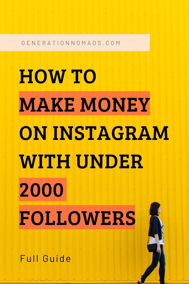 To make money on Instagram with under 2000 followers is possible. We share examples of the ways we made money on Instagram with our travel account. Also as micro influencer you can land collaborations and make money online on Instagram. Start your career journey to become a digital nomad and live the life you dream about! This advice is suitable for all niches and topics, you don't need to be a travel influencer.