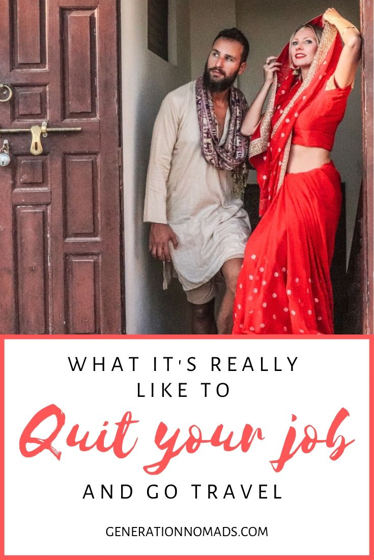 """Have you ever thought """"why don't I just quit my job and travel the world?"""" We have done it, and can tell you all about it, a year after quitting our office jobs! After a 1 year sabbatical and no return ticket yet, we talk about what it's really like to quit your job to travel the world! We share our experience as digital nomads, give travel tips, and career advice for everyone who wants to become a digital nomad."""