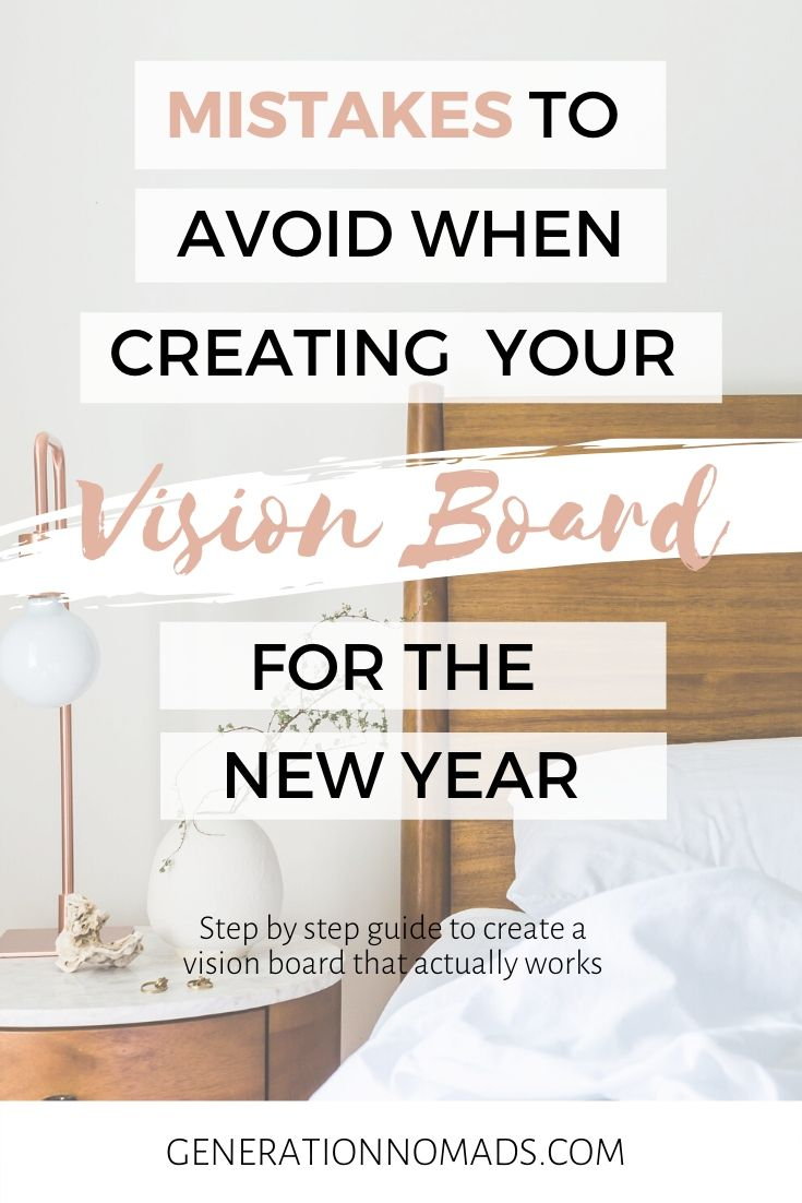 If you do it right, your vision board will be the start of you living your dreams in 2020. Here's mistakes to avoid and how to change your life in 2020.