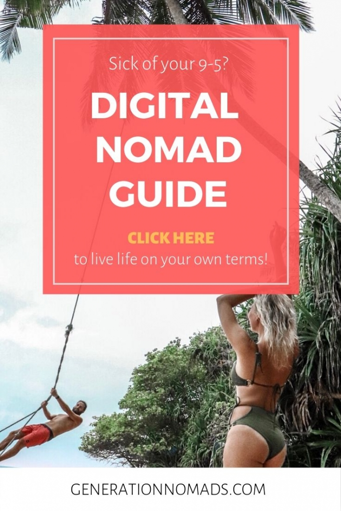 Tired of your 9-5? Need a career change? Love to travel? Quit your job, work remotely, and live the digital nomad lifestyle. This is the complete guide to how to make money online and travel around the world. We answer all your questions around starting your career as digital nomad and work remotely. What skills you need. What job options there are. What to consider, and much more. Work and travel.