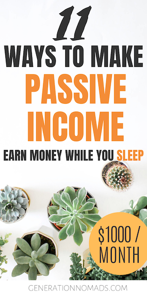 Are you looking for realistic passive income ideas? Learn how to earn extra income and get closer to financial freedom with these 11 tested passive income streams. We explain what passive income is and how you can start generating passive income online and offline. There are 2 passive income strategies: money and time investments. Click to read more & find out how to create additional income with 11 real extra income ideas.