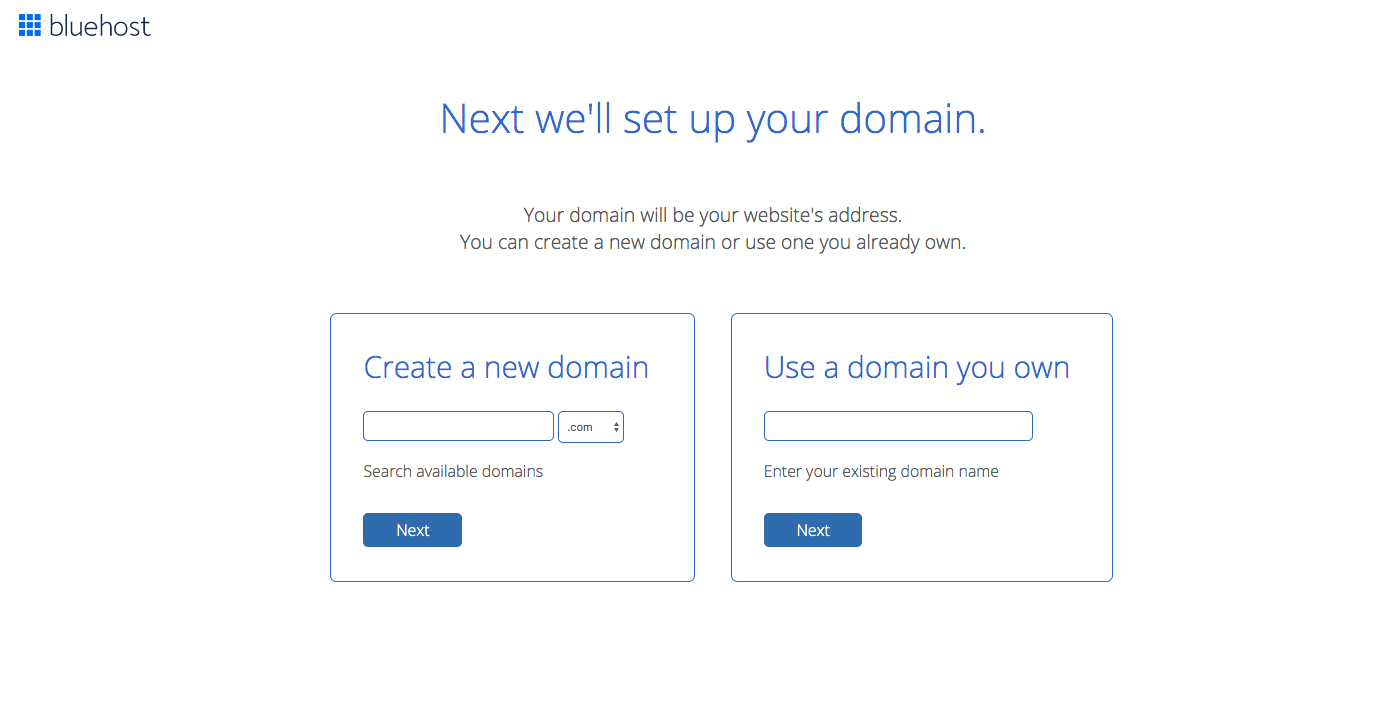 How to start a blog register a domain with Bluehost
