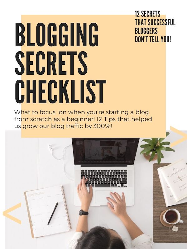 Learn how to start a successful blog and earn money blogging as a blogging beginner with these 12 Blogging Secrets