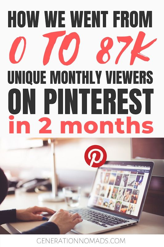 If you want to be a successful blogger, Pinterest marketing needs to be part of your social media strategy! But how to use Pinterest for blogging and how to increase blog traffic through Pinterest SEO? Here's blogging advice we wish we had 1 year ago. We share our exact Pinterest marketing strategy that made us go from 0 to 87K monthly unique viewers on Pinterest in only 2 months. Read to learn how you can be using Pinterest for blog.