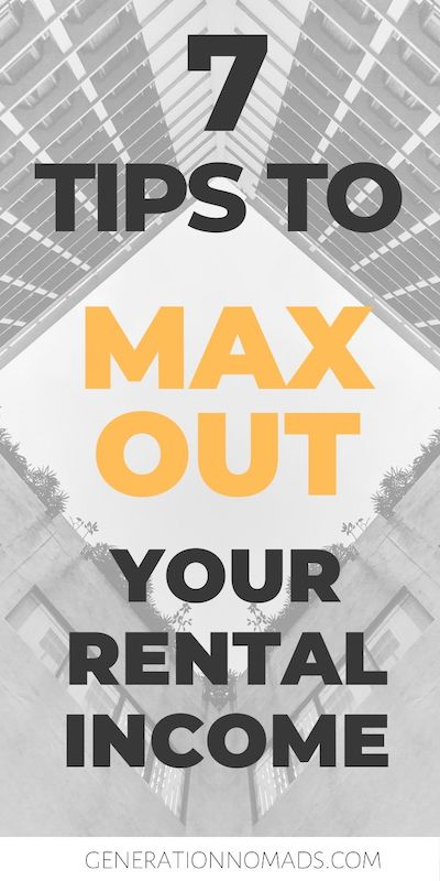 If you are planning to go travel or try out the digital nomad lifestyle, turning your home into a rental property is great to earn additional income. Renting your home is one of the safest ways to earn passive income. Before you start, there are certain things you should know if you want to maximize you rental income.  We earn over $24k in passive income through rental properties. In this post we want to share 7 tips to maximize your rental income.