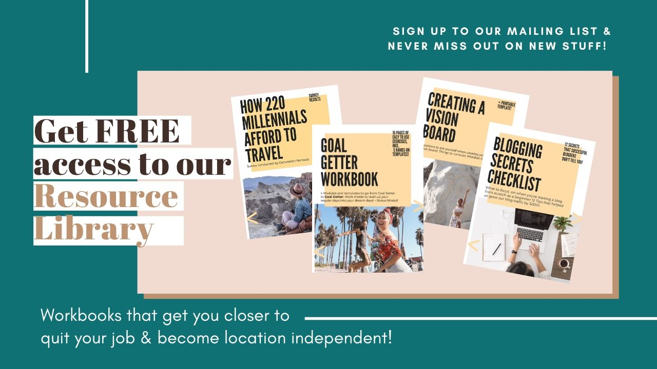 Free Guides and Workbooks for aspiring digital nomads. Make money online and become location independent