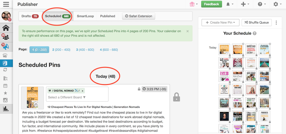 How to increase blog traffic with Tailwind Scheduler on Pinterest