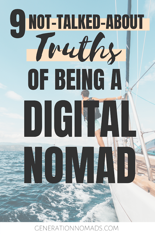Want to become a digital nomad? Despite of what it looks like, it's not all glamour. Living the digital nomad lifestyle can be a huge pain: from loneliness to financial worries. We reveal 9 pitfalls of the digital nomad lifestyle that no one else talks about. Whether you make money online as freelancer, remote jobs, or an own online business idea, here's the uncensored truth you need to know before becoming location independent.
