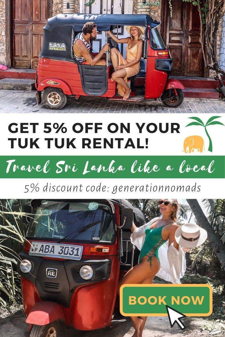 Rent a tuk tuk in Sri Lanka