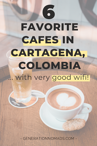 Working remotely from Cartagena? Want to enjoy the Caribbean Coast breeze with a cup of Colombian coffee in your hand? These are the best cafes in Cartagena for digital nomads! Here you can have real Colombian coffee in Cartagena and be ultra-productive, with strong Wifi. After 2 weeks in Cartagena, these the 6 remote work spots we would go back to. Even if you're looking for a place to work online, these cafes have the best coffee in town.