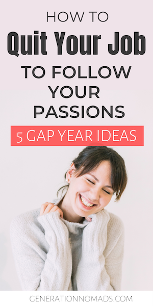 Are you sick and tired of your boring job? Taking a gap year from your career is totally normal these days. Quitting your job might sound like a drastic move, but it is perfectly acceptable to take a career break in your 20's or 30's. Having a plan for the time off is essential for making the most out of your sabbatical. Here are 5 amazing career gap year ideas to help you reinvent yourself and rediscover your passions and priorities. #careeradvice #changeyourlife #personalgrowth #goalsetter