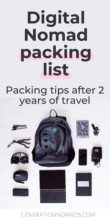 You're about to start your remote adventure, wohoo! After you scored your remote job and know how you will make money online, the only thing left to do is fill up your digital nomad backpack with everything you need. We have made more than a few packing mistakes during our trips, but after being on the road for over 2 years, we know what is essential for your digital nomad packing list. Here's what to pack and how to save money and space!