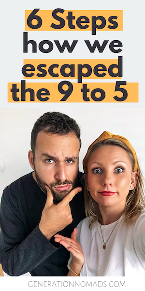 "Do you feel stuck in a career that you don't enjoy? Or maybe you like your job but you postpone to follow your dreams because you're ""too busy""? Learn how you can escape the 9-to-5 and start to build a freedom life in 6 Steps. We share our step-by-step blueprint of how we prepared to quit our jobs and go travel around the world for 18 months. Learn from our experience and mistakes, so that you can follow your passions faster and smarter! #freedom #passiveincome #dreamlife #findyourthing #career"
