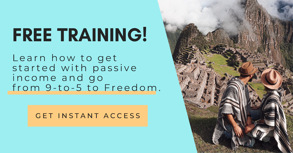 Free training - get started with passive income and reach financial freedom to live your dream life